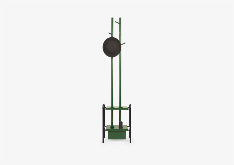Coat Stand – Lacquered – Black – Green – EDWARD by MARQQA Furniture
