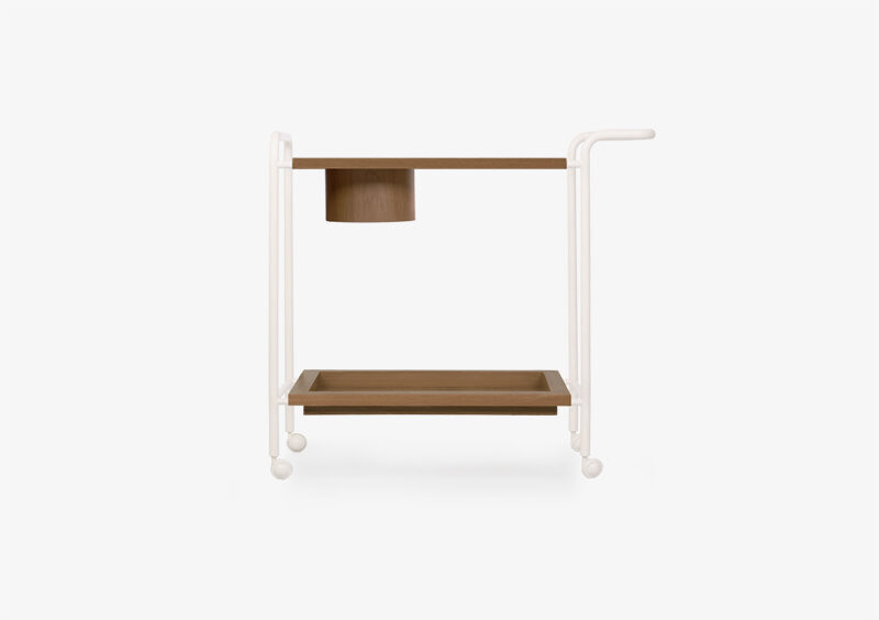 Tea Trolley – Wood – Lacquered – White – EMMA by MARQQA Furniture