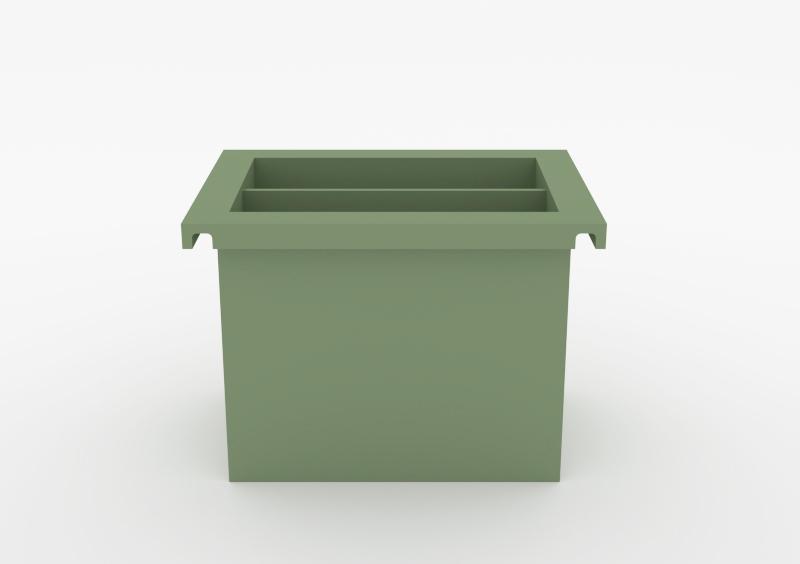 Magazine Box – Lacquered – Light Green – MARQQA Furniture