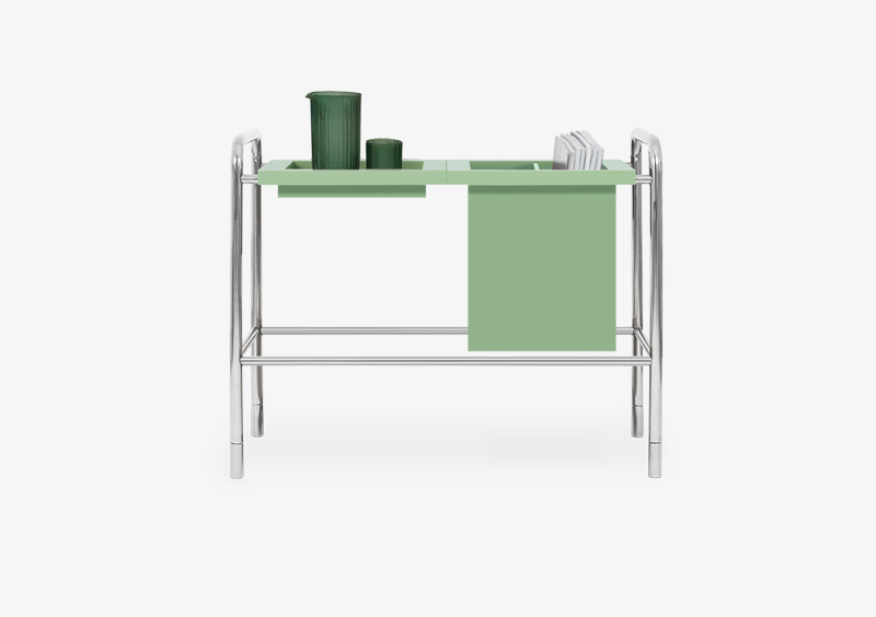 Console Table – Lacquered – Silver – ALBERT by MARQQA Furniture