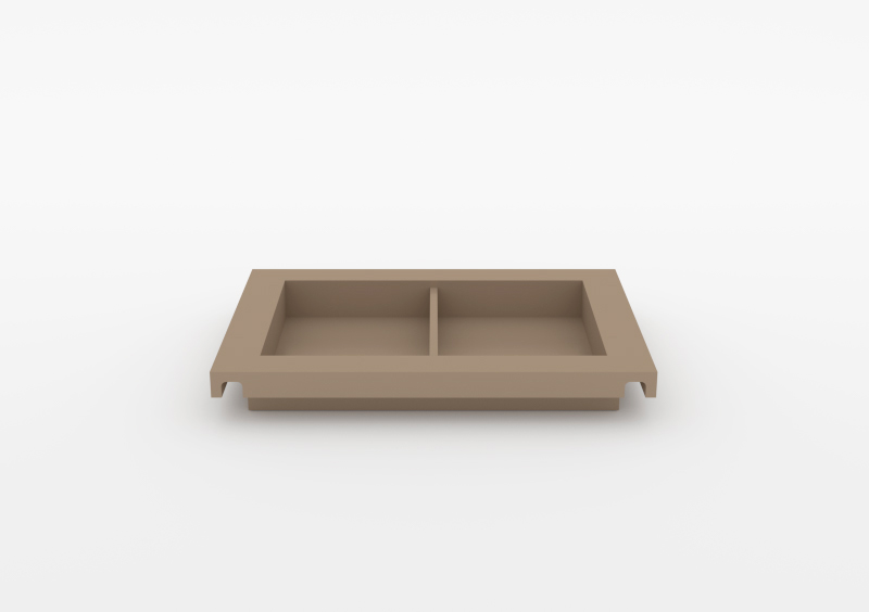Small Divided Tray – Lacquered – Taupe – MARQQA Furniture
