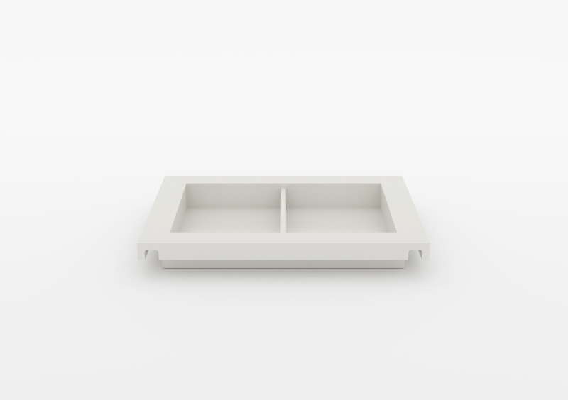 Small Divided Tray – Lacquered – White – MARQQA Furniture