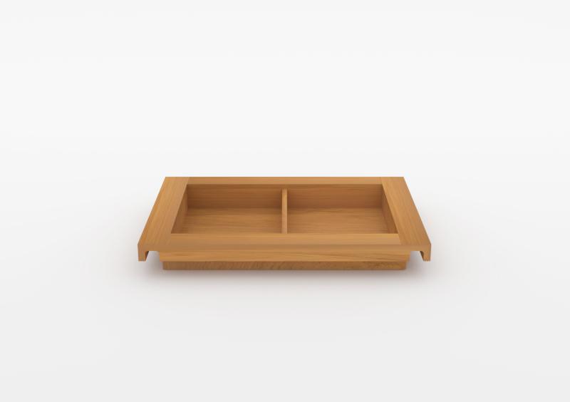Small Divided Tray – Wood – Natural – MARQQA Furniture