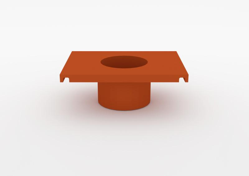 Small Pot – Lacquered – Brick – MARQQA Furniture