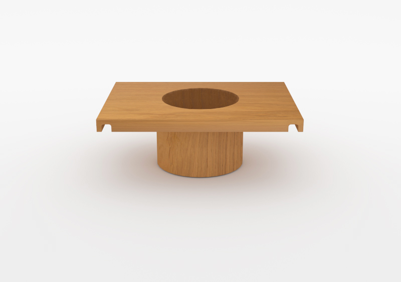 Small Pot – Wood – Natural – MARQQA Furniture
