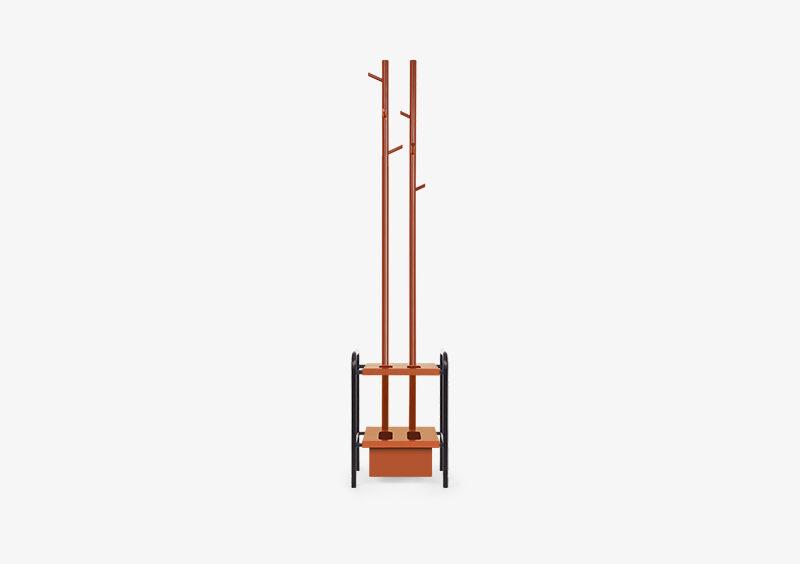 Coat Stand – Lacquered – Black – Brick – DANIEL by MARQQA Furniture