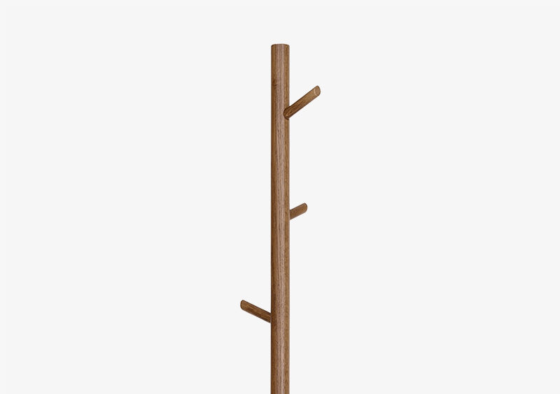 Coat Stand – Gold – Wood – SIMON by MARQQA Furniture