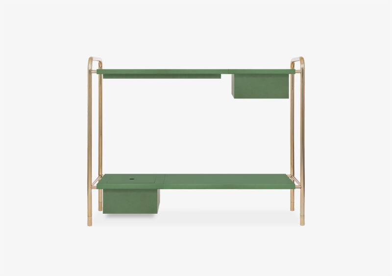 Console Table – Gold – Green – ABRAHAM by MARQQA Furniture