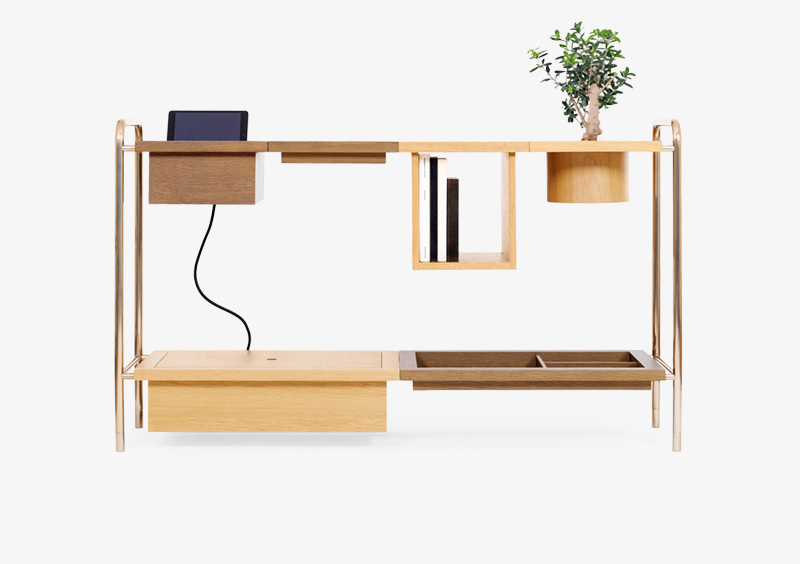 Console Table – Wood – Gold – AMELIA by MARQQA Furniture