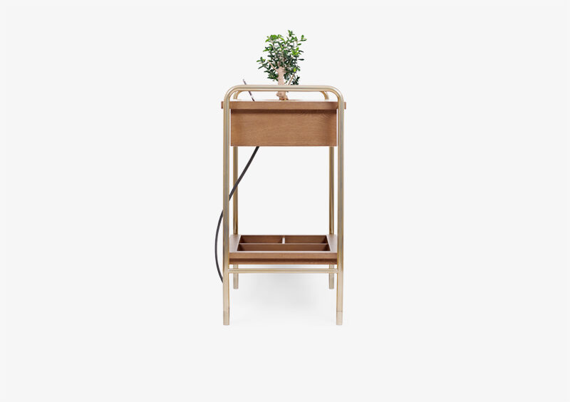 Console Table – Wood – Gold – BEATRICE by MARQQA Furniture