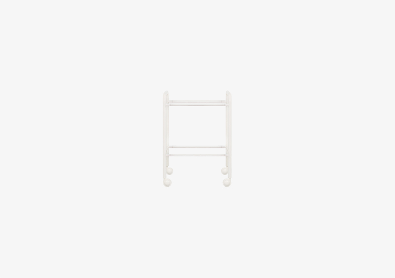 Side Table/Coat Stand Structure – Metal – White – MARQQA Furniture