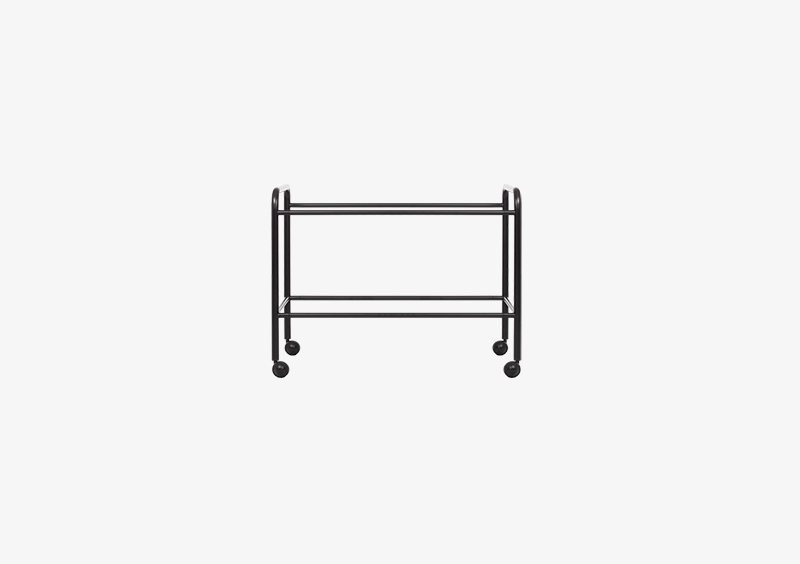 Side Table/Coat Stand Structure – Metal – Black – MARQQA Furniture
