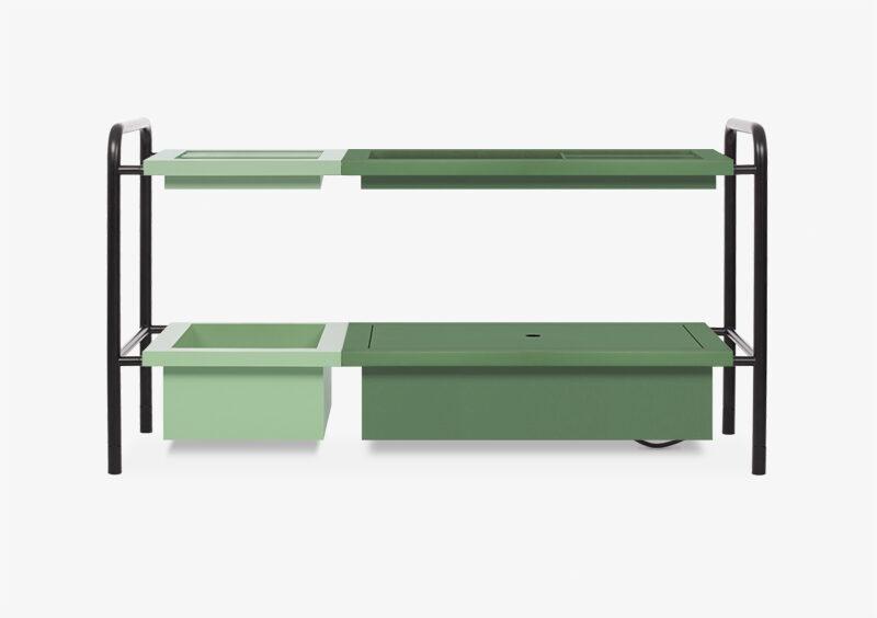 Side Table – Black – Green – BARBARA by MARQQA Furniture