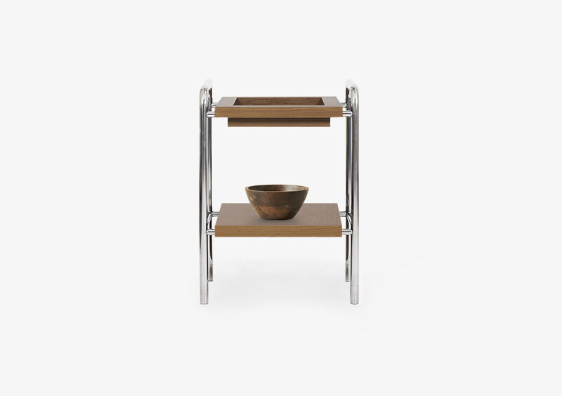 Side Table – Wood – Silver – GARY by MARQQA Furniture