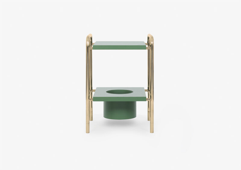 Side Table – Gold – Lacquered – Green – HARPER by MARQQA Furniture