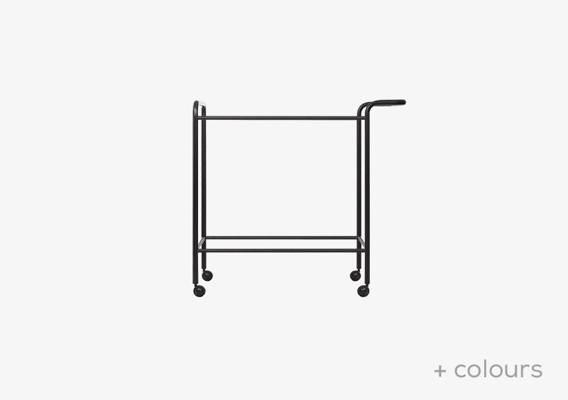 Tea Trolley Structure – Metal – Black – MARQQA Furniture