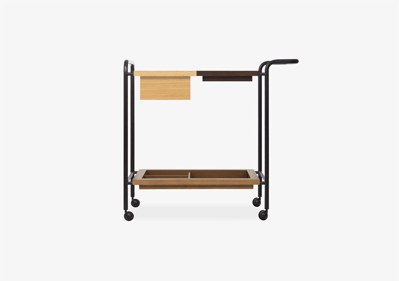 Tea Trolley – Wood – Lacquered – Black – RICHARD by MARQQA Furniture