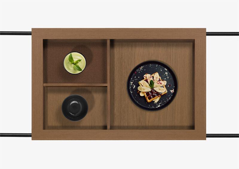 Tea Trolley – Wood – Black – RICHARD by MARQQA Furniture