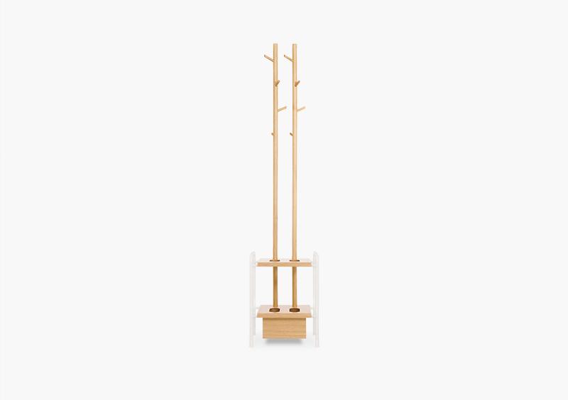 Coat Stand – Wood – White – INEZ by MARQQA Furniture