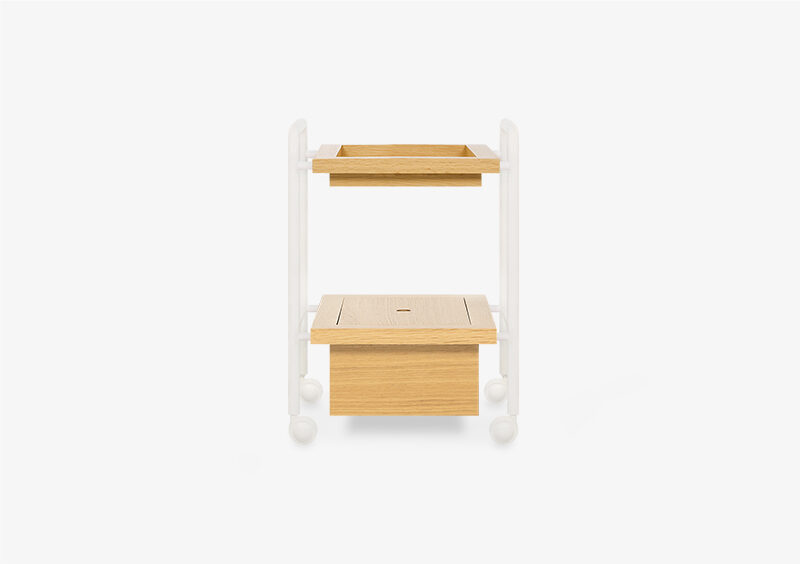 Side Table – Wood – White – CLEMENTINE by MARQQA Furniture