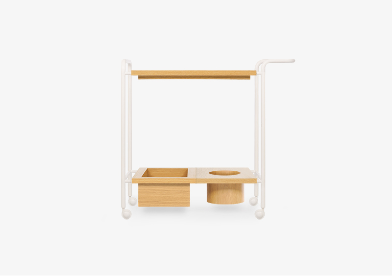 Tea Trolley – Wood – White – VICENT by MARQQA Furniture