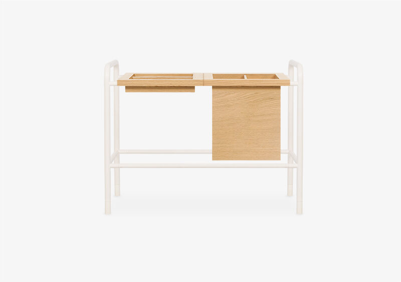 Side Table – Wood – White – ALAN by MARQQA Furniture