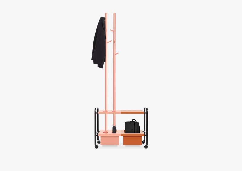 Coat Stand – Rose – Brick – Black – Lacquered – PENELOPE by MARQQA Furniture