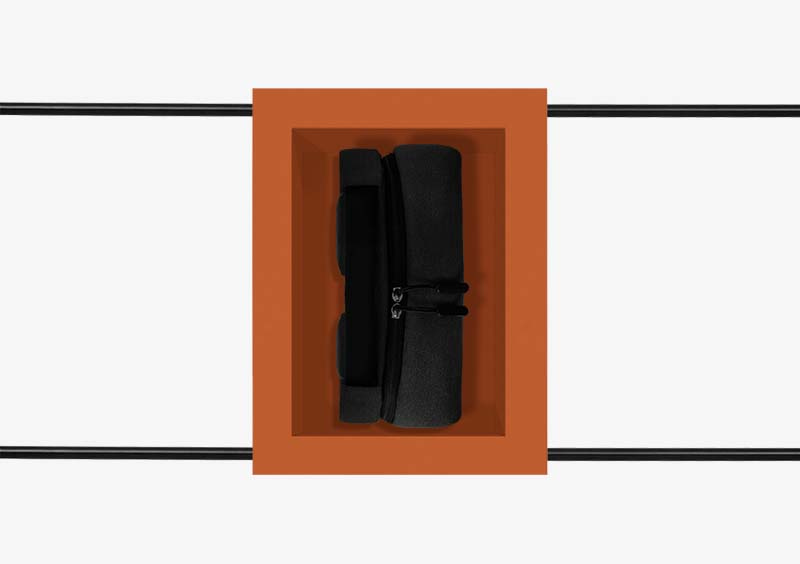 Coat Stand – Brick – Black – Lacquered – PENELOPE by MARQQA Furniture