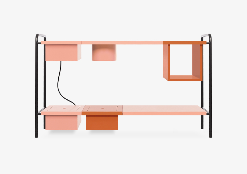 Console Table – Brick – Rose – Black – Lacquered – CASSIE by MARQQA Furniture