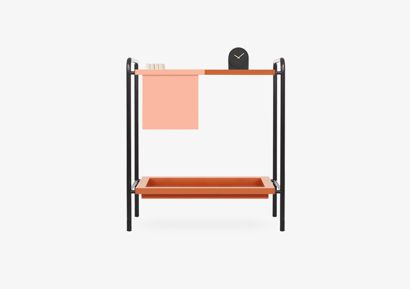 Console Table – Brick – Rose – Black – Lacquered – IRENE by MARQQA Furniture